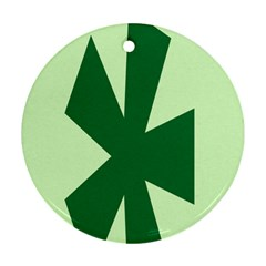 Starburst Shapes Large Circle Green Round Ornament (two Sides) by Alisyart
