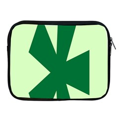 Starburst Shapes Large Circle Green Apple Ipad 2/3/4 Zipper Cases by Alisyart