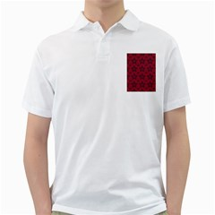 Star Red Black Line Space Golf Shirts by Alisyart