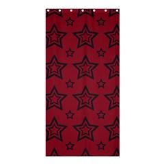 Star Red Black Line Space Shower Curtain 36  X 72  (stall)  by Alisyart