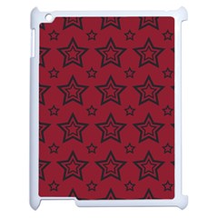 Star Red Black Line Space Apple Ipad 2 Case (white) by Alisyart
