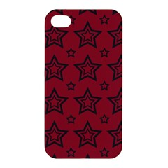 Star Red Black Line Space Apple Iphone 4/4s Hardshell Case by Alisyart