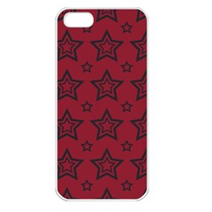 Star Red Black Line Space Apple Iphone 5 Seamless Case (white) by Alisyart