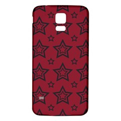 Star Red Black Line Space Samsung Galaxy S5 Back Case (white) by Alisyart
