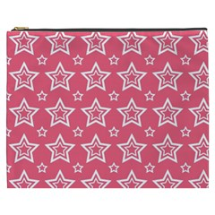 Star Pink White Line Space Cosmetic Bag (xxxl)  by Alisyart