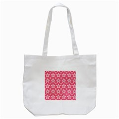 Star Pink White Line Space Tote Bag (white) by Alisyart