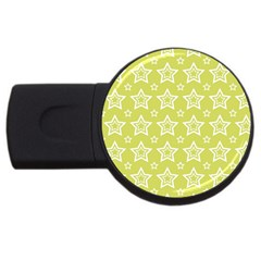 Star Yellow White Line Space Usb Flash Drive Round (4 Gb) by Alisyart
