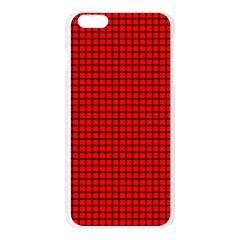 Red And Black Apple Seamless iPhone 6 Plus/6S Plus Case (Transparent) by PhotoNOLA