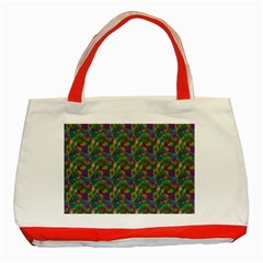 Pattern Abstract Paisley Swirls Classic Tote Bag (red) by Simbadda