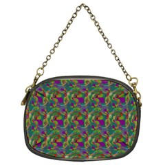 Pattern Abstract Paisley Swirls Chain Purses (two Sides)  by Simbadda