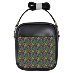 Pattern Abstract Paisley Swirls Girls Sling Bags