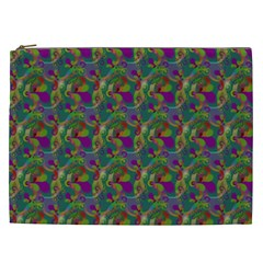 Pattern Abstract Paisley Swirls Cosmetic Bag (xxl)  by Simbadda