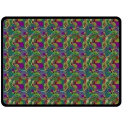 Pattern Abstract Paisley Swirls Double Sided Fleece Blanket (large)  by Simbadda