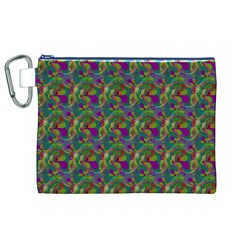 Pattern Abstract Paisley Swirls Canvas Cosmetic Bag (xl) by Simbadda