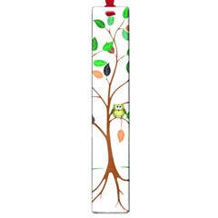 Tree Root Leaves Owls Green Brown Large Book Marks by Simbadda