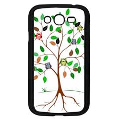 Tree Root Leaves Owls Green Brown Samsung Galaxy Grand Duos I9082 Case (black) by Simbadda