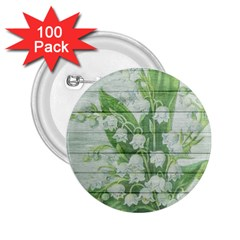 On Wood May Lily Of The Valley 2 25  Buttons (100 Pack)  by Simbadda