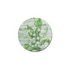 On Wood May Lily Of The Valley Golf Ball Marker (4 Pack) by Simbadda