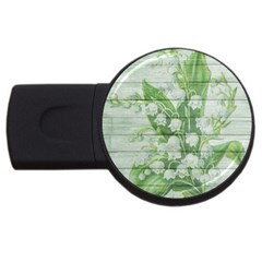 On Wood May Lily Of The Valley Usb Flash Drive Round (2 Gb) by Simbadda