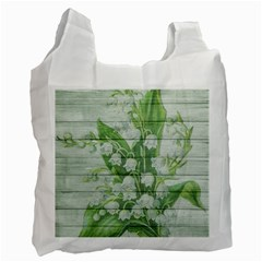 On Wood May Lily Of The Valley Recycle Bag (one Side) by Simbadda
