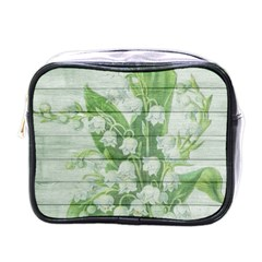On Wood May Lily Of The Valley Mini Toiletries Bags by Simbadda