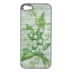 On Wood May Lily Of The Valley Apple Iphone 5 Case (silver) by Simbadda