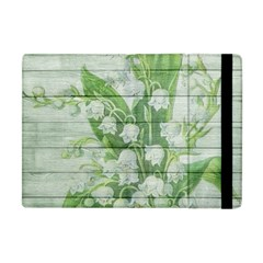 On Wood May Lily Of The Valley Apple Ipad Mini Flip Case by Simbadda