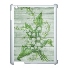 On Wood May Lily Of The Valley Apple Ipad 3/4 Case (white) by Simbadda