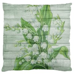 On Wood May Lily Of The Valley Standard Flano Cushion Case (one Side) by Simbadda