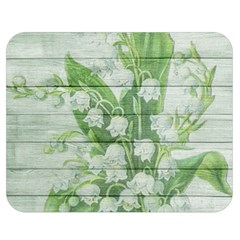 On Wood May Lily Of The Valley Double Sided Flano Blanket (medium)  by Simbadda