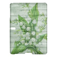 On Wood May Lily Of The Valley Samsung Galaxy Tab S (10 5 ) Hardshell Case  by Simbadda