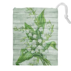 On Wood May Lily Of The Valley Drawstring Pouches (xxl) by Simbadda