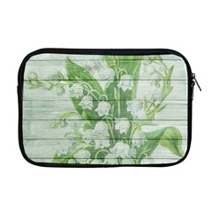 On Wood May Lily Of The Valley Apple Macbook Pro 17  Zipper Case by Simbadda