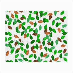 Leaves True Leaves Autumn Green Small Glasses Cloth by Simbadda