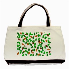 Leaves True Leaves Autumn Green Basic Tote Bag by Simbadda