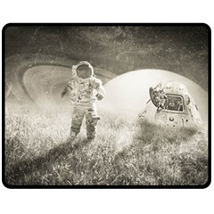 Astronaut Space Travel Space Fleece Blanket (medium)  by Simbadda