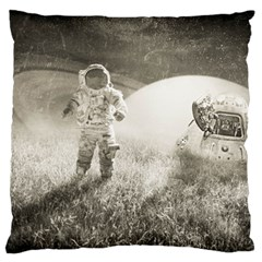 Astronaut Space Travel Space Large Cushion Case (one Side) by Simbadda