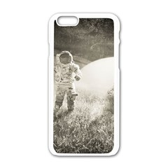 Astronaut Space Travel Space Apple iPhone 6/6S White Enamel Case by Simbadda