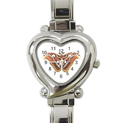 Butterfly Animal Insect Isolated Heart Italian Charm Watch by Simbadda