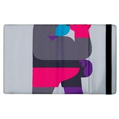 Strong Bear Animals Boxing Red Purple Grey Apple Ipad 3/4 Flip Case by Alisyart