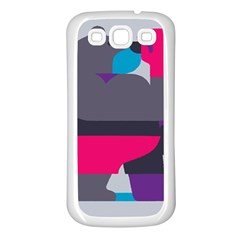 Strong Bear Animals Boxing Red Purple Grey Samsung Galaxy S3 Back Case (white) by Alisyart
