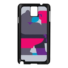 Strong Bear Animals Boxing Red Purple Grey Samsung Galaxy Note 3 N9005 Case (Black)