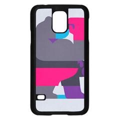 Strong Bear Animals Boxing Red Purple Grey Samsung Galaxy S5 Case (black) by Alisyart