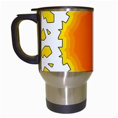Sun Hot Orange Yrllow Light Travel Mugs (white) by Alisyart