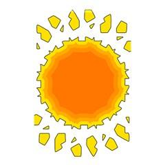 Sun Hot Orange Yrllow Light Shower Curtain 48  X 72  (small)  by Alisyart