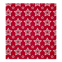 Star Red White Line Space Shower Curtain 66  X 72  (large)  by Alisyart