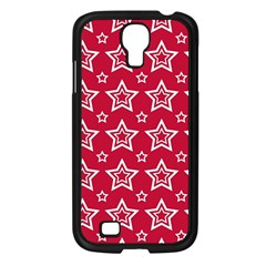 Star Red White Line Space Samsung Galaxy S4 I9500/ I9505 Case (black) by Alisyart