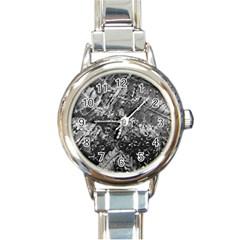 Fern Raindrops Spiderweb Cobweb Round Italian Charm Watch