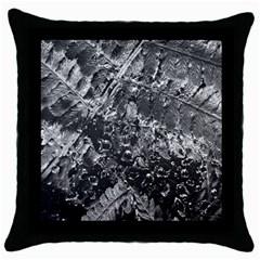 Fern Raindrops Spiderweb Cobweb Throw Pillow Case (black) by Simbadda