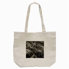 Fern Raindrops Spiderweb Cobweb Tote Bag (cream) by Simbadda